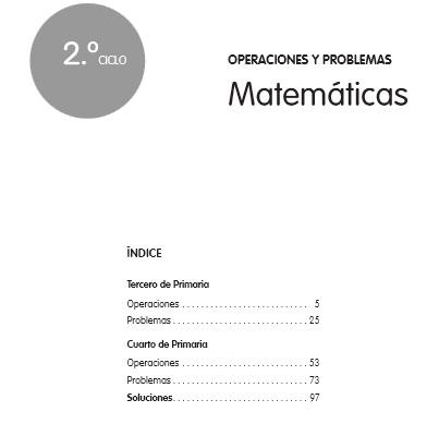 calculo y probleams 2º ciclo