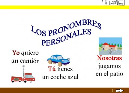 Los pronombres personales | Segundo Y Tercer ciclo primaria ...