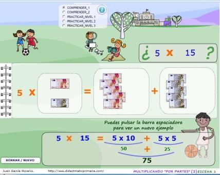 Propiedad distributiva de la multiplicación con didacmaticprimaria ...