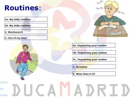 Resultado de imagen de daily routines educamadrid