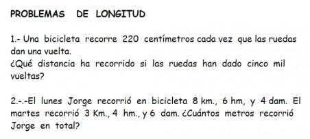 Ficha con problemas de medida:longitud, masa, capacidad y tiempo