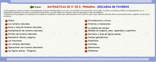 matematicas 5 fichas