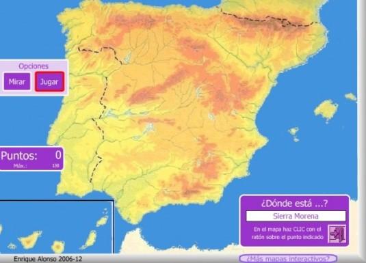 mapa inter españa