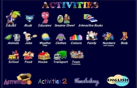 activities ingles