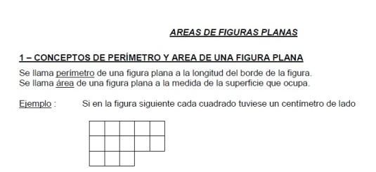 area de figuras planas
