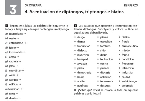 ortografía | Segundo Y Tercer ciclo primaria - Secundaria (ESO ...