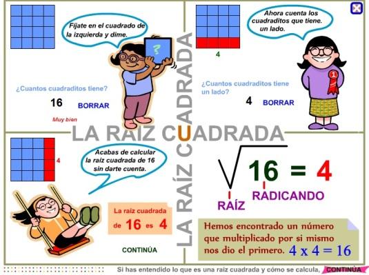 http://www3.gobiernodecanarias.org/medusa/eltanquematematico/todo_mate/raiz_pp/raizc_e_p.html