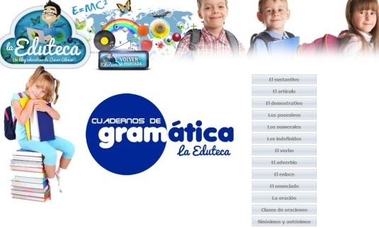 la eduteca, cuadernos de gramática