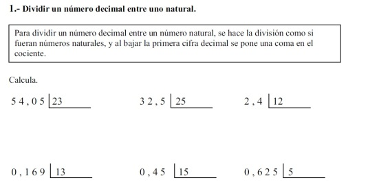 decimales operaciones