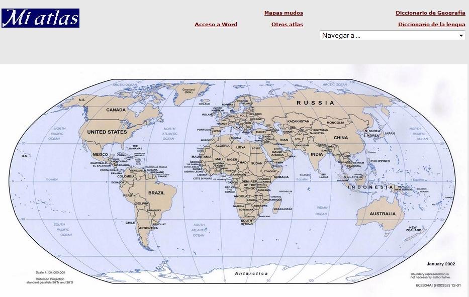 Representación de la Tierra : Planisferio físico y político ...