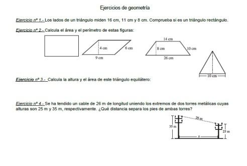 problemas geometria