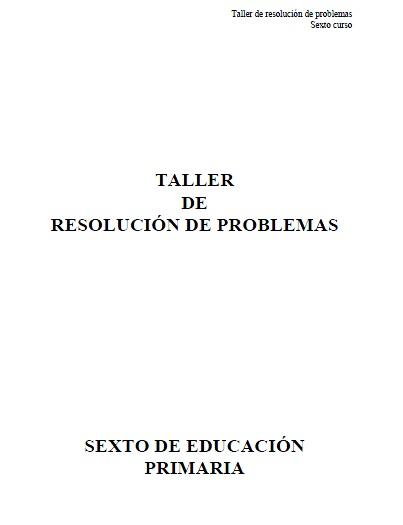 taller de resolucion de problemas