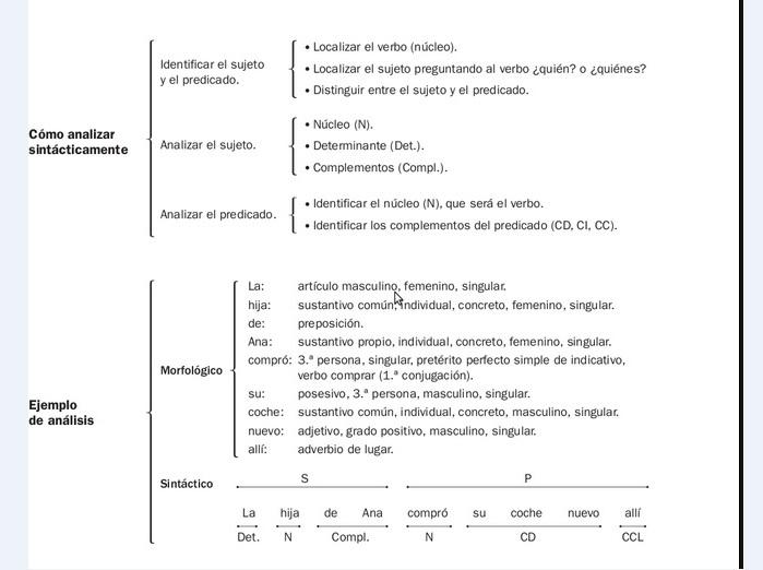 Análisis Sintáctico Sujeto Y Predicado Segundo Y Tercer Ciclo Primaria Secundaria Eso Ejercicios Recursos Y Actividades