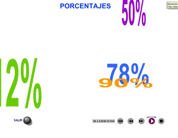 porcentajes materiales educativos