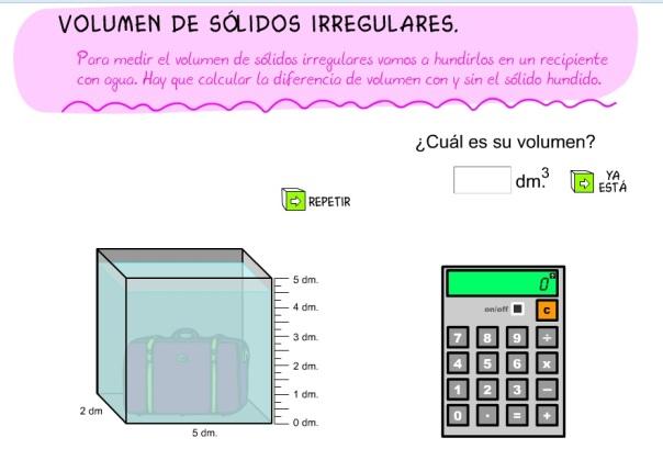 volumen irregulares