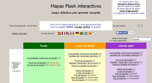 mapas flash