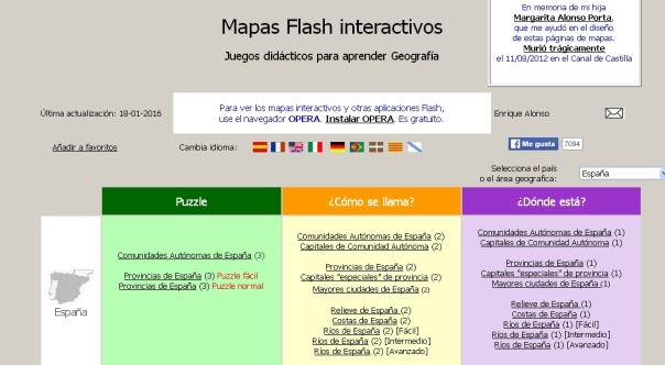 mapas flash