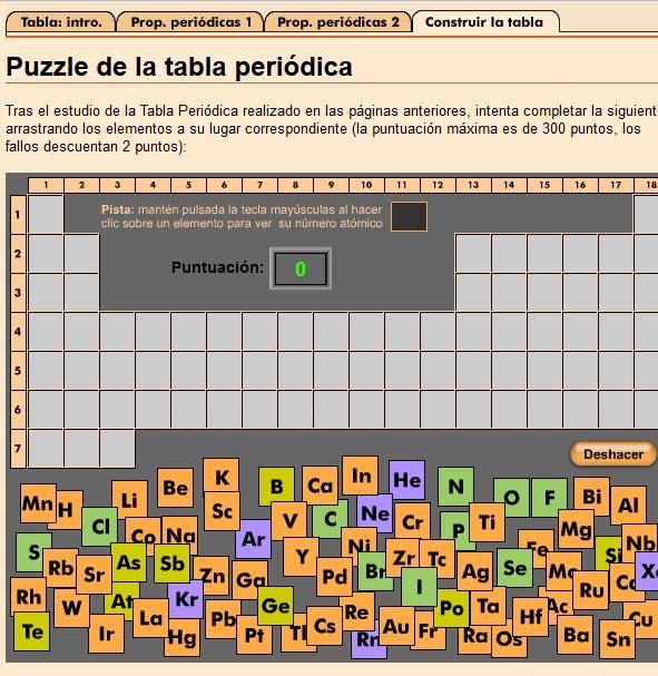 puzzle tabla periodica