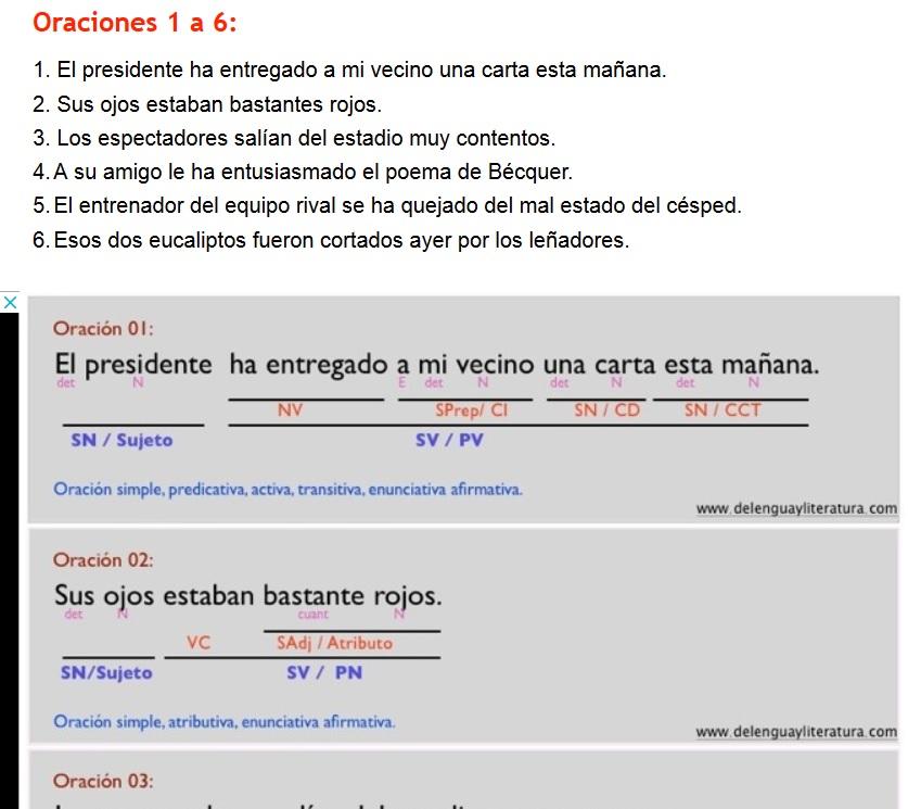 analisis oraciones simples